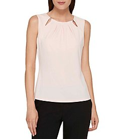 Tommy Hilfiger Beaded Keyhole Cutout Neckline Top