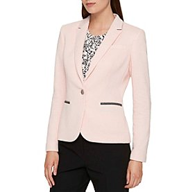 Tommy Hilfiger Single Front Button Elbow Patch Blazer