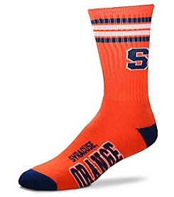 For Bare Feet NCAA® Syracuse Orange Men's 4-Stripe Crew Socks