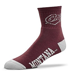 For Bare Feet NCAA® Montana Grizzlies Men's 501 Quarter Length Socks