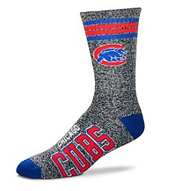 For Bare Feet MLB® Chicago Cubs Men's Four Stripe Crew Socks