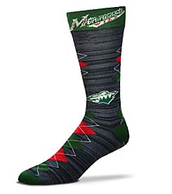 For Bare Feet Minnesota Wild Men's Fan Nation Crew Socks
