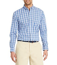 IZOD Men's Long Sleeve Plaid Oxford Dress Shirt
