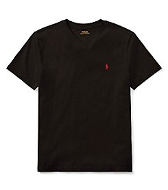Polo Ralph Lauren Boys' 2T-20 Short Sleeve Cotton Jersey V-Neck T Shirt