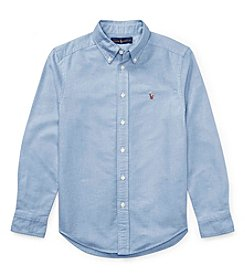Polo Ralph Lauren Boys' 2T-20 Long Sleeve Cotton Oxford Sport Shirt