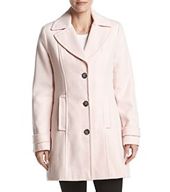 Calvin Klein Button Flap Pocket Wool Walker Coat