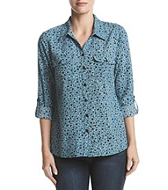 Studio Works Printed Button Front Shirt