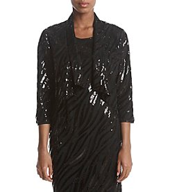 Kasper Sequin Mesh Jacket