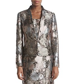Kasper Metallic Floral Jacket