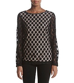 Nine West Cam Dot Blouse