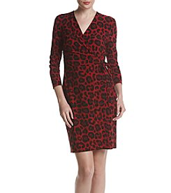 Anne Klein Animal Print Wrap Dress