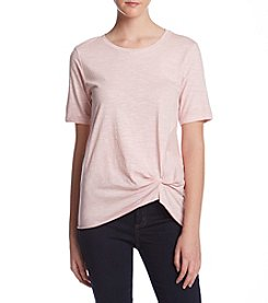 Hippie Laundry Pink Front Knot Tee