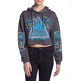 Freeze Def Leppard Cropped Hoodie