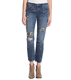 BLANKNYC Jewel Embellished Ankle Jeans