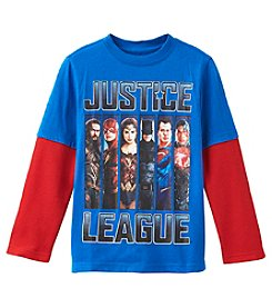 DC Boys' 2T-4T Layered Justice League Tee
