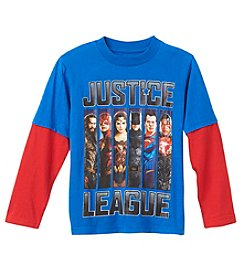DC Boys' 4-7 Layered Justice League Tee