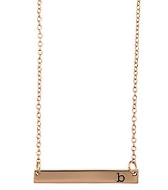 Athra Goldtone Letter B Bar Necklace