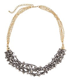 Relativity Goldtone Beaded Swag Necklace