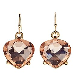 Relativity Goldtone Simulated Crystal Drop Earrings