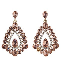 Relativity Rose Goldtone Crystal Post Earrings