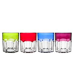 Godinger Theo Set of Four Assorted Double Old Fashioned Wiskey Glasses