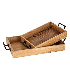 The Pomeroy Collection Woodridge Set of 2 Trays