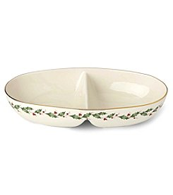 Lenox Holiday Collection Divided Oval Bowl