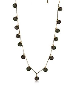 Robert Rose Goldtone Station Necklace