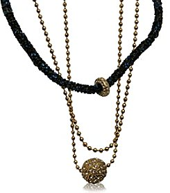 Robert Rose Goldtone Druzy Ball Chain Necklace