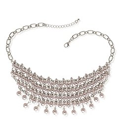 Robert Rose Beaded Frontal Necklace