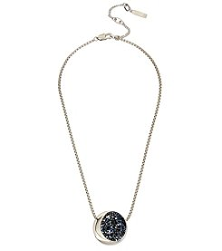Kenneth Cole Rhodium Pendant Chain Necklace
