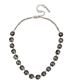 Kenneth Cole Rhodium Frontal Necklace