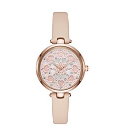 kate spade new york Women's Holland Heart Leather Strap Watch