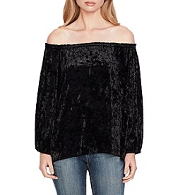 Jessica Simpson Velvet Off The Shoulder Top