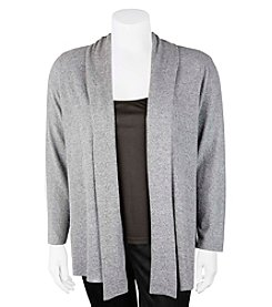A. Byer Plus Size Open Front Cardigan
