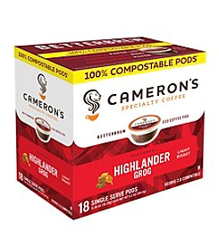 Cameron's Specialty Coffee Highlander Grog 18-ct. Single Serve Pods
