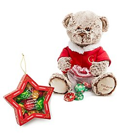 Godiva Chocolatier Limited Edition 2017 Holiday Plush Bear with Holiday Truffles Star Ornament