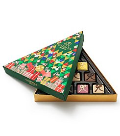 Godiva Chocolatier Limited Edition Christmas 10-Piece Petit Fours Gift Box with Assorted Gourmet Chocolates