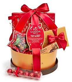 Godiva Chocolatier Make It Merry Christmas Gift Basket with 5 Holiday Chocolate Treats