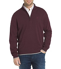 IZOD Men's Fieldhouse Solid Quarter Zip Sweater