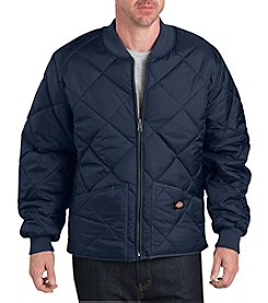 Dickies Men's Diamond Quilted Nylon Water Resistant Jacket