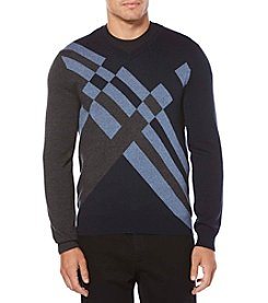 Perry Ellis Men's Big & Tall Argyle Winter Sweater