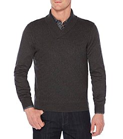 Perry Ellis Men's Big & Tall Shawl Collar Knit Sweater