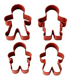 Wilton Bakeware 4 Piece Gingerbread Family Cookie Cutter Set