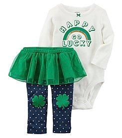 Carter's Baby Girls' Happy Go Lucky Top And Leggings Set