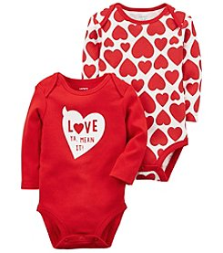 Carter's 2 Pack Valentine's Day Bodysuits Set