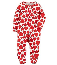 Carter's Heart Zip Up Cotton Sleep And Play