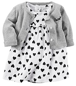 Carter's Baby Girls' Heart Dress And Cardigan