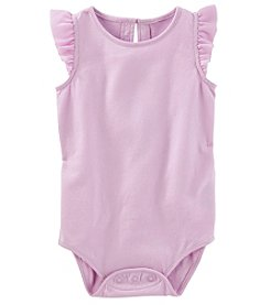 OshKosh B'Gosh Baby Girls' Chiffon Ruffle Sleeve Bodysuit