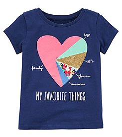 Carter's Girls' 2T-8 Short Sleeve My Favorite Things Tee